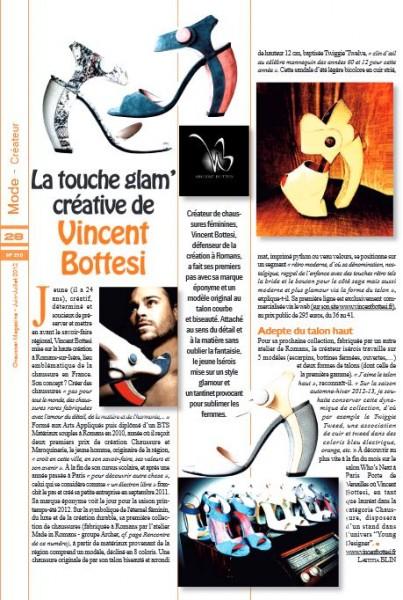 Le créateur de chaussures de luxe pour femme dans Chausser Magazine